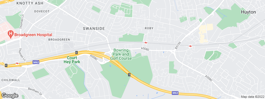 Map for Roby Park development by Bellway Homes Ltd