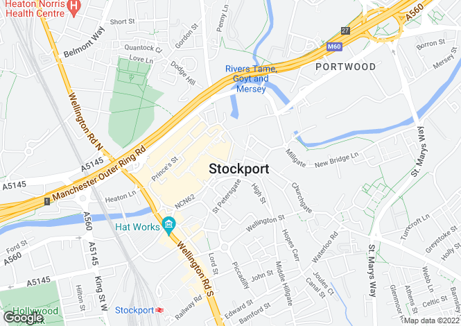 Map for 9 Prince's Street, Stockport, Stockport, Stockport