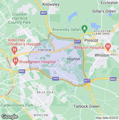 Map of property in Huyton