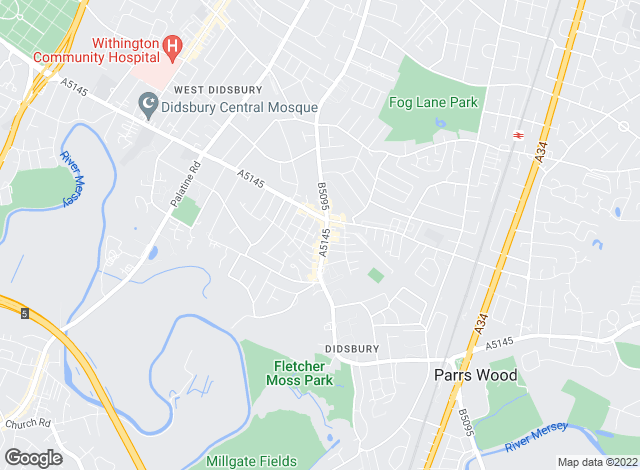 Map for JP & Brimelow, Didsbury
