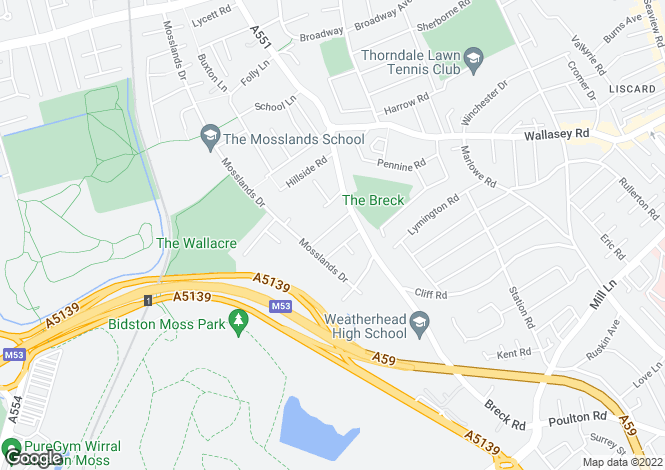 Map for Westbourne Road,