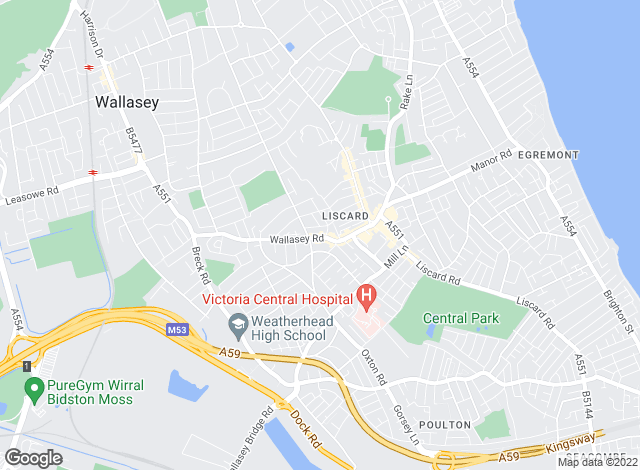 Map for Wirral Lettings, Wallasey