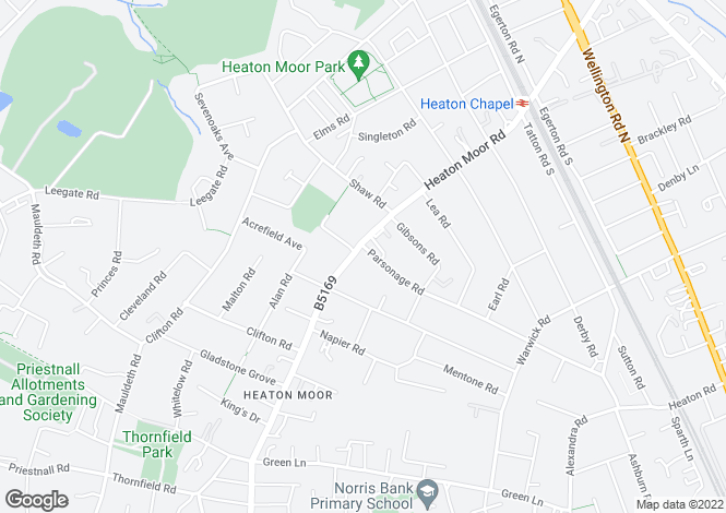 Map for The Reform Club, 59 Heaton Moor Road, Stockport, Cheshire