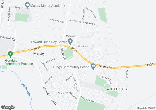 Map for 45-51 Tickhill Road, Maltby, Rotherham