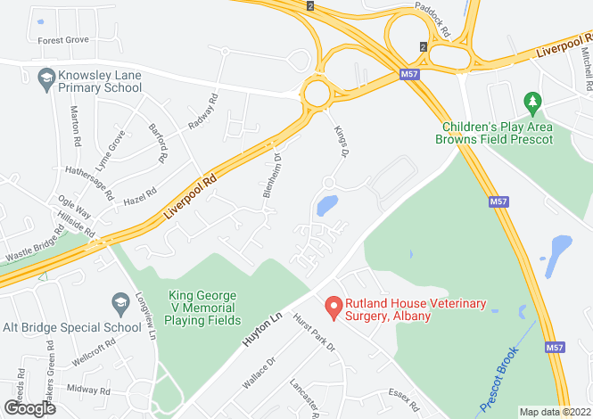 Map for Kings Drive,