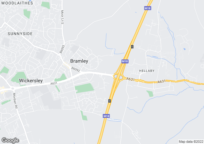 Map for Bawtry Road, Bramley, Rotherham
