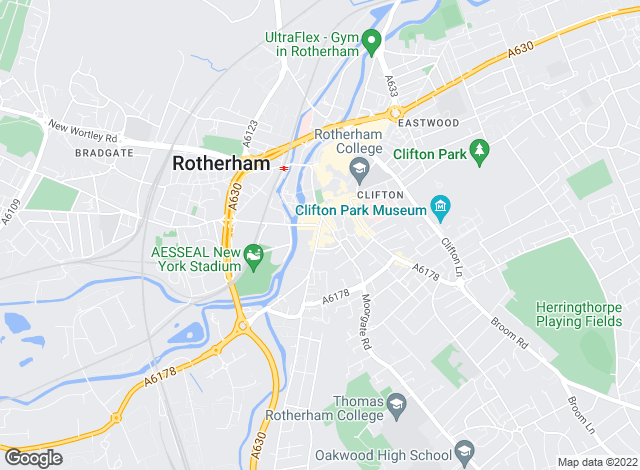 Map for Yorkshire Accommodation Bureau, Rotherham