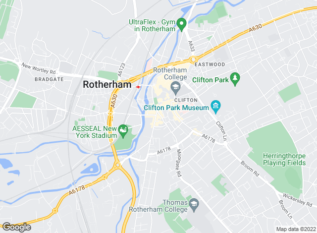 Map for Merryweathers, Rotherham