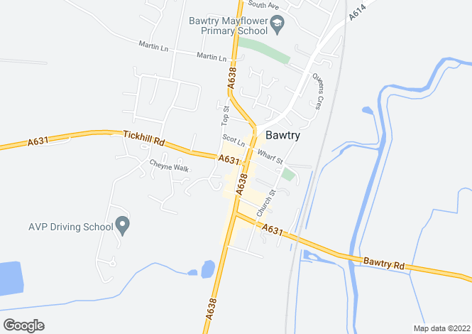 Map for Granary Court, Tickhill Road, BAWTRY, DN10