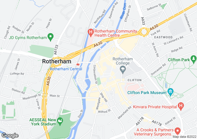 Map for 10-14 BRIDGEGATE, ROTHERHAM, SOUTH YORKSHIRE, ENGLAND