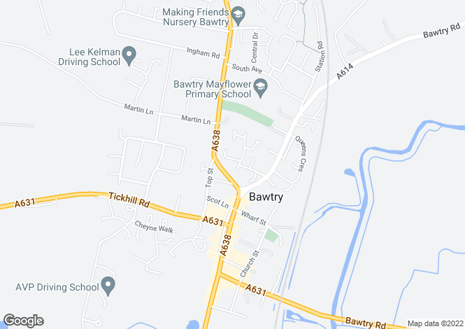 Map for Peakes Croft, Bawtry, Doncaster