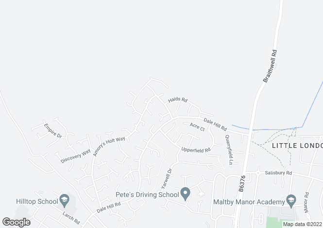 Map for Amorys Holt Close, Maltby, Rotherham