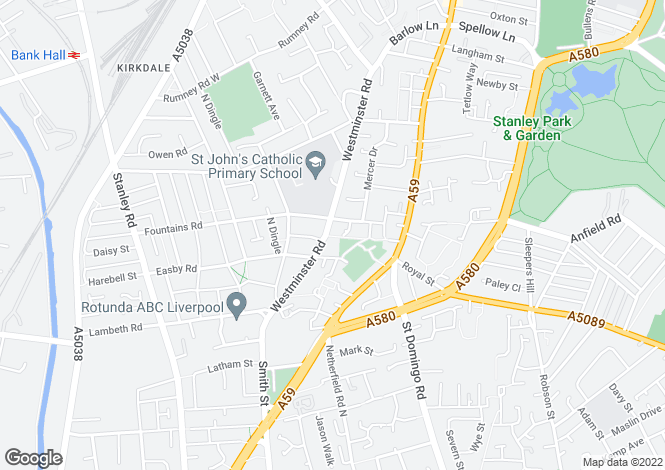 Map for Newsham at St John's Place, Westminster Road,