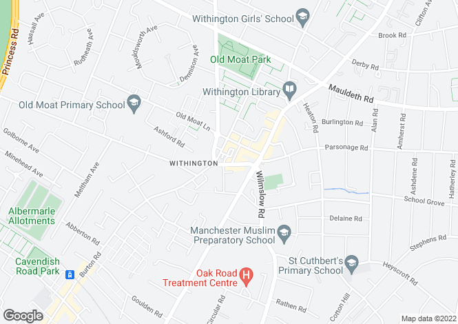 Map for Student Village, Withington