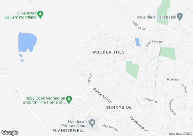 Map for Silverwood Close, Woodlaithes Village