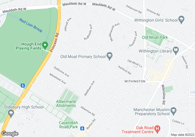Map for Whitchurch Road,
