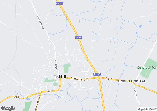 Map for Langdale Close, Tickhill, Doncaster