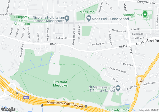 Map for Manor Court, Urmston Lane,