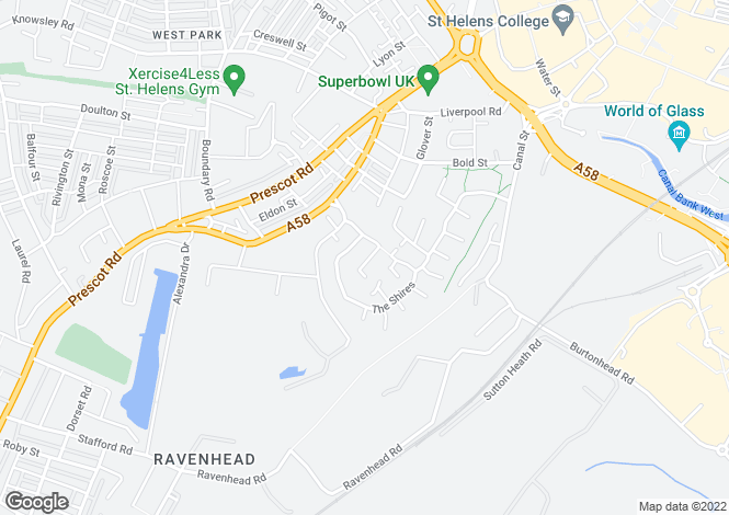 Map for Cheshire Gardens, The Shires, St Helens, WA10