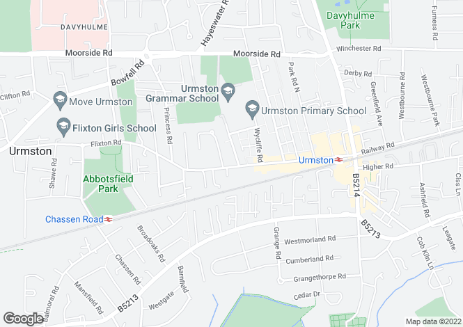 Map for Flixton Road,