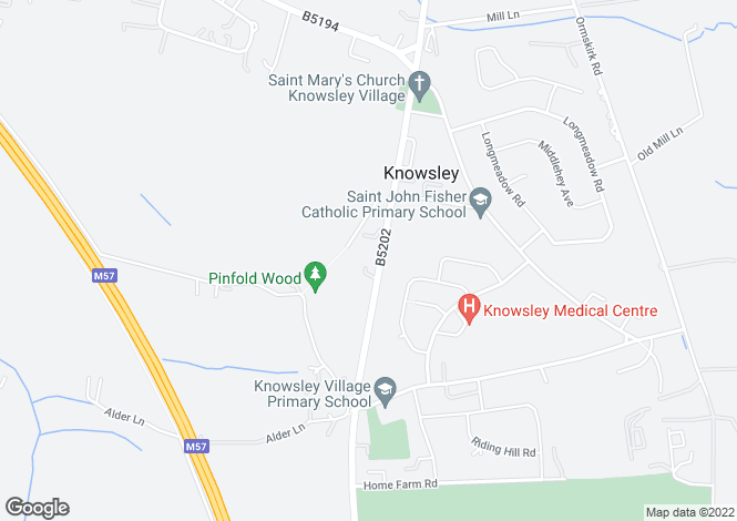Map for Knowsley Lane, Knowsley, Prescot, L34