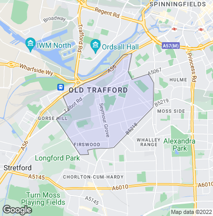 Map of property in Old Trafford