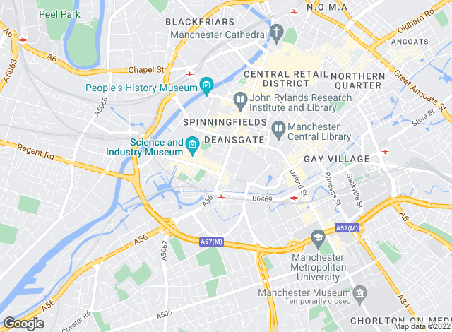 Map for Philip James Manchester, Manchester City Centre - Lettings