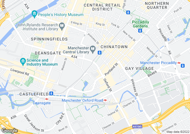 Map for Oxford Street,
