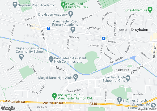 Map for Juniper Crescent, Droylsden, Manchester