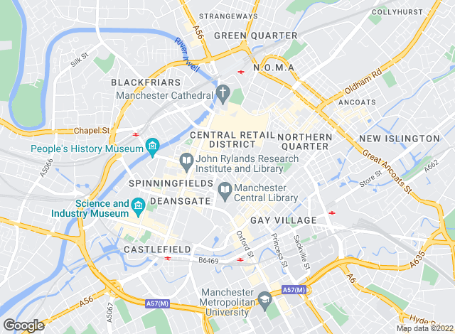 Map for WSC Estates, Manchester