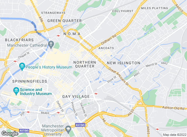 Map for Granite Lettings & Property Management - Residential Lettings & Sales, Northern Quarter, Manchester City Centre