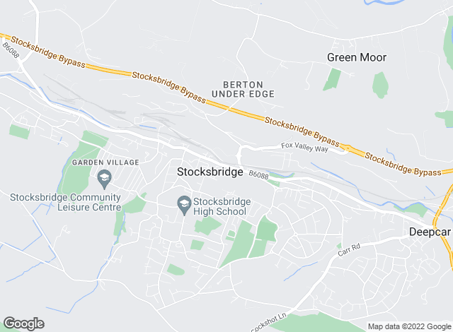 Map for Hunters, Stocksbridge