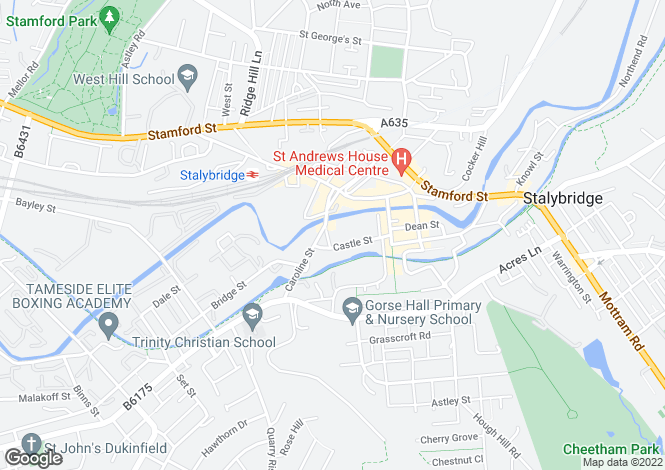 Map for Castle Street,