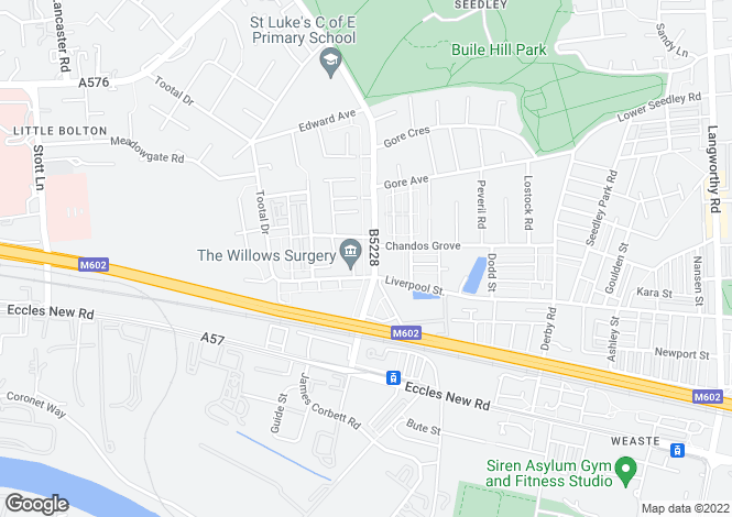 Map for Weaste Lane,