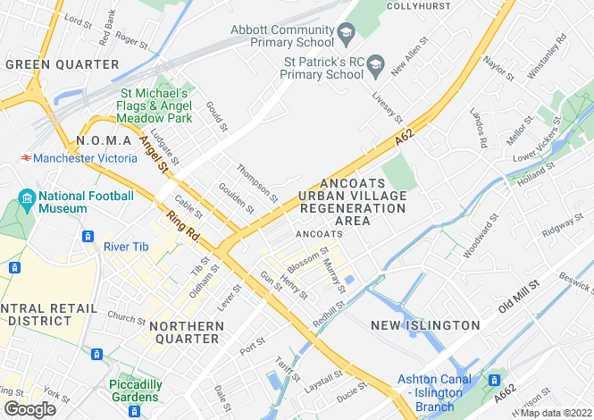 Map for Oldham Road,