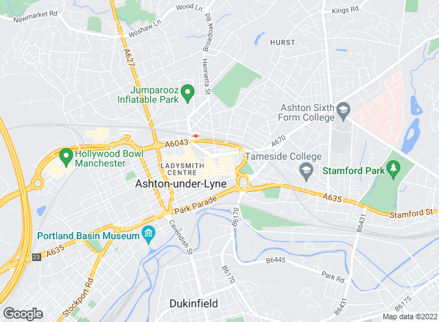 Map for Reeds Rains Lettings, Ashton Under Lyne