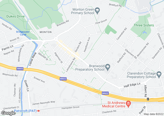 Map for Princes Court, Monton, Worsley, Manchester
