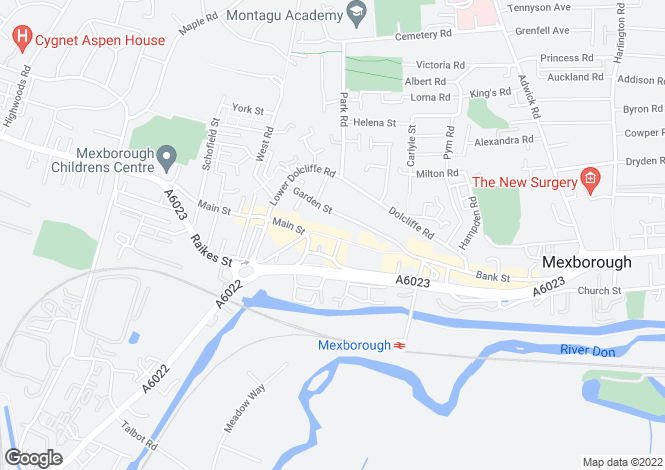 Map for High Street, MEXBOROUGH, South Yorkshire, uk