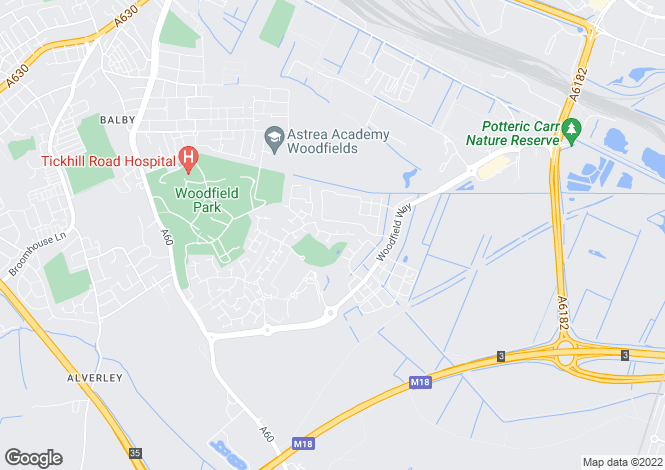 Map for Aintree Drive, Woodfield Plantation, Doncaster DN4