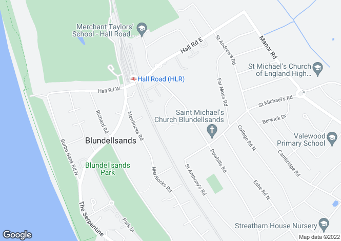 Map for Dowhills Drive, Blundellsands, Liverpool L23 8SU