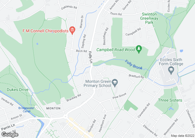 Map for Chorlton Brook, Monton, Manchester