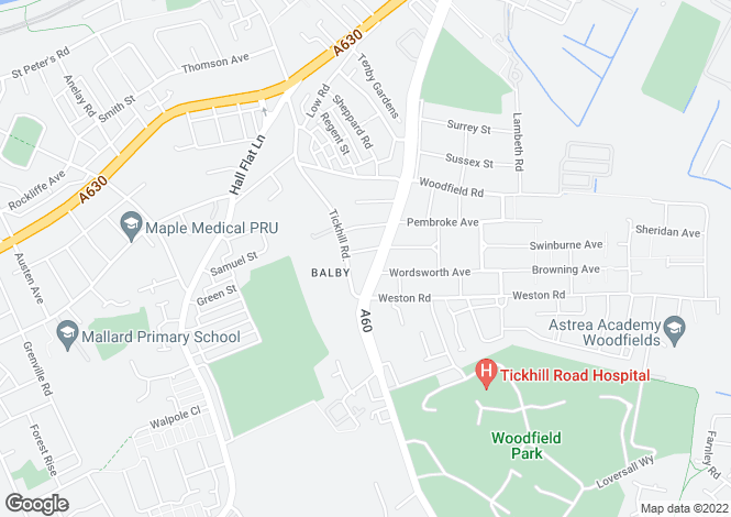 Map for Balby Retail Park, Balby Retail Park, Sandford Road, Doncaster, DN4 8EU
