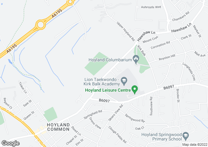 Map for Hawshaw Lane, Hoyland, Barnsley, South Yorkshire, S74
