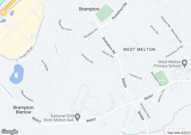 Map for Honister Close, Brampton Bierlow, ROTHERHAM, South Yorkshire