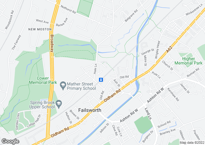 Map for Stanhope Way,  Failsworth,  Manchester,  M35