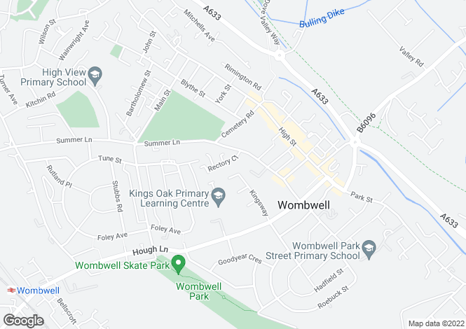 Map for Churchfield House, Rectory Close, Wombwell Barnsley S73 8EY