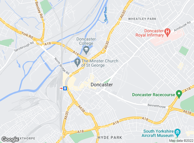 Map for Martin & Co, Doncaster - Lettings