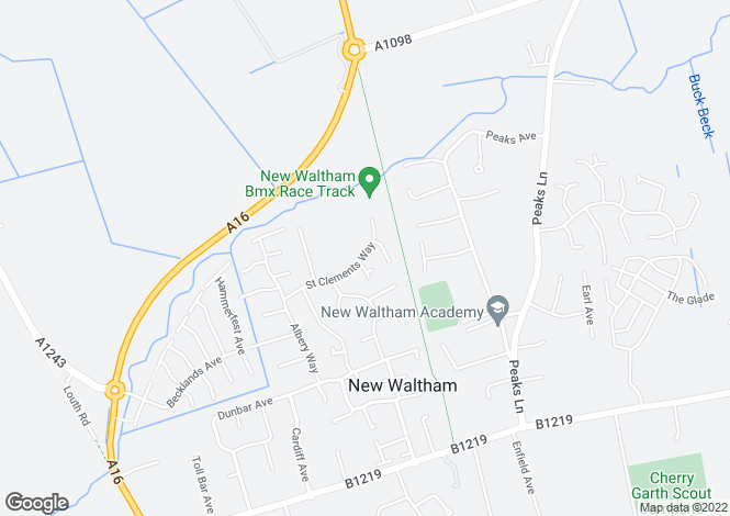 Map for St. Clements Way, New Waltham, GRIMSBY
