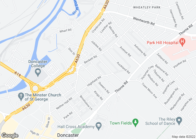 Map for Baxter Avenue, WHEATLEY, DONCASTER, South Yorkshire