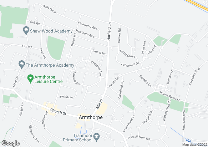 Map for Hatfield Lane, Armthorpe, Doncaster DN3